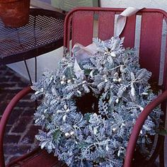 Nature's Silver | Make a living wreath with a naturally silver sheen using frost-resistant dusty miller. | SouthernLiving.com