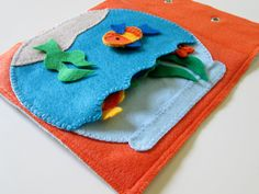 felt book pages, fish bowl, quiet book fish, quiet books, quiet book pages, aquarium, fishbowl, activity books
