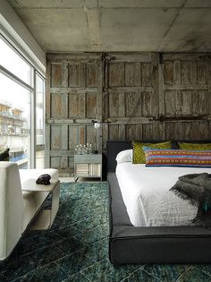 Wooden doors with hardware  Concrete Jungle by PROjECT. Interiors   Aimee Wertepny