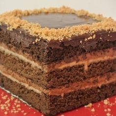 Chocolate Hazelnut Praline Cake by AimeeCH