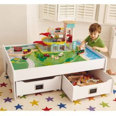 Multipurpose Play Table - White - Abbeville Storage Playroom - Create the Look - gltc.co.uk