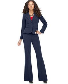 AGB Two Button Suit Jacket & Townsend Wide Leg Pants - Womens Suits & Suit Separates - Macy's