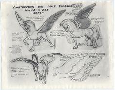 fantasia character sheets | Disney FANTASIA Animation Model Sheets MALE + FEMALE PEGASUS for ...