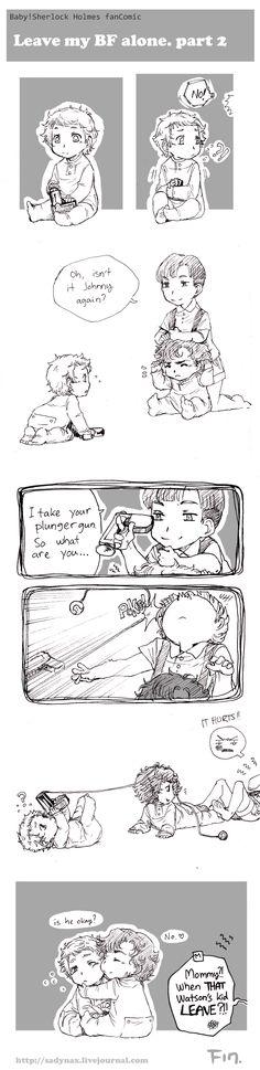 Holmes art and BBC Sherlock Baby-Comic