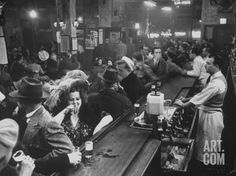 Bar Crammed with Patrons at Sammy's Bowery Follies Photographic Print by Alfred Eisenstaedt at Art.com