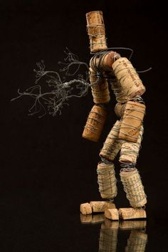 TreeDrone 533x800 The Corkmen in art  with Wire Wine Tree Sculpture natural cork Art