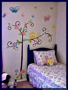 Spotted! Our Scroll Tree wall decal looks great in this little girls bedroom! ^nn