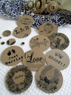 vintage inspired table confetti
