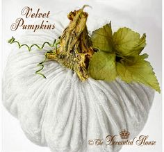 How to make these wonderful Plush and Pretty Velvet Pumpkins by Donna ~ The Decorated House:   Directions and tips for making your own. Fall and Halloween Decorating. velvet pumpkin, pumpkin plush, decor hous