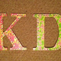 Kappa delta Lilly letters :)
