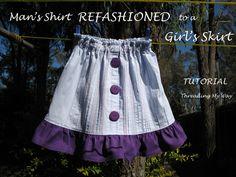 From Shirt to Skirt ~ Tutorial...
