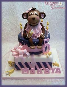 Makaya's Monkey Cake (front)  by Sugary Goodness (Kim), via Flickr