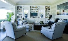 interior design, chair, yellow rooms, living rooms, blue, family rooms, hous, live room, coco republ