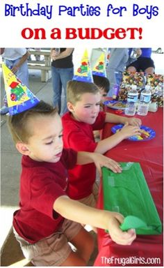 Birthday Party Ideas for Boys... on a Budget! ~ at TheFrugalGirls.com - your guys will love these fun parties! #birthdays #thefrugalgirls