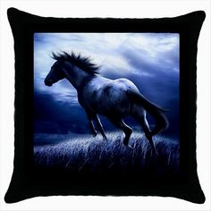 DARK HORSE Quality Black Cushion Cover Throw Pillow Case Gift  http://stores.shop.ebay.co.uk/giftbazaar