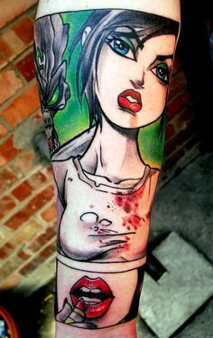 Tattoo Artist - Lee Piercy - cartoon tattoo