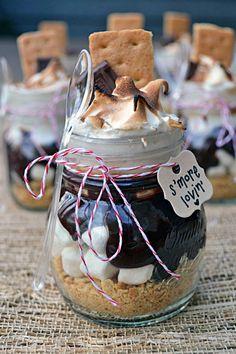S'more jars cute food sweet chocolate jars dessert gifts
