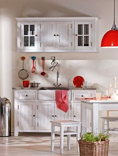 Cottage style interiors on pinterest for Separate kitchen units