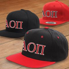 Alpha Omicron Pi Classic Snapback Cap $17.95 #Greek #Sorority #Clothing #AOPi #AlphaOmicronPi #Hat