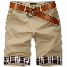 Men's Summer Fashion Plaid Casual Shorts - USD $ 30.79