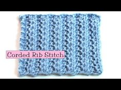 Fancy Stitch Combo - Corded Rib video tutorial