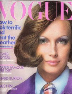 vogue, vogu oct, karen graham, 70s cover, cover 1970s