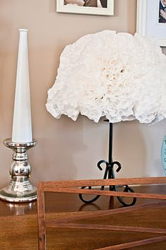 Coffee filter lamp shade