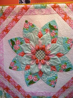 Up Parasol quilt by Heather Bailey.  2014 Spring Quitl Market, photo by Thread Fabric Store