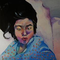 "Saatchi Online Artist Eva Szentgyorgyi; Painting, ""Kiss from Keisuke"" #art"