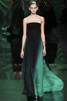 WOW Monique Lhuillier #nyfw monique lhuillier, fashion, 2013 rtw, runway 2013, green, dress, fall 2013, lhuillier fall, moniqu lhuillier