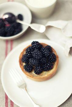 Blackberry tartlet.