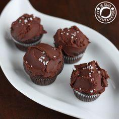 Dark Chocolate Ganache #Cupcakes