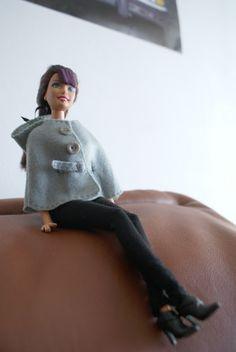 sew, doll cloth, barbi pattern, belt, barbi cloth, barbie, barbi hous, hood, capelet pattern