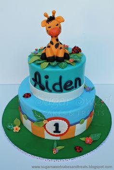 Sugar Sweet Cakes and Treats: Giraffe Themed First Birthday Cake