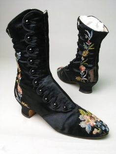 Boots 1880, Made of silk, linen, and satin ~ more for you Ms. Rachael!