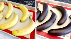 How to ripen bananas fast for baking...this will come in handy!!  I'm guessing here in Phoenix, we can even do this outside in the summer sun, LOL!  :)