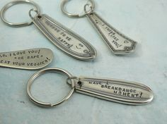 I make these using my vast collection of vintage flatware.  They make great gifts!
