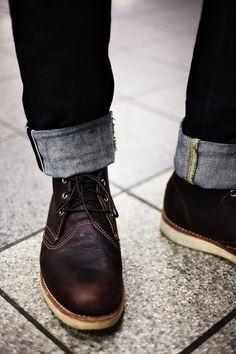 cuff + boots #menswear