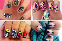 Warning, Graphic Content: Check Out 18 Amazing, Geometric Nail-Art Looks