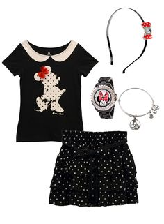 A Minnie-inspired polka dot look #style