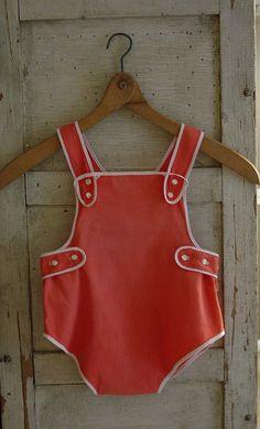 Vintage look sunsuit. Those were very sweet.