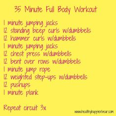 35 minute full body workout