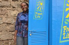 """Gladys Ndambuki, Sanergy Sales and Operations Area Manager reminding everyone to """"Be You. Be Clean. Be Fresh."""" http://saner.gy. Submitted by Nicole Parisi-Smith."""