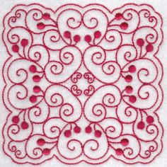 Cherries Quilt Blocks Redwork at Bunnycup Embroidery at http://www.bunnycup.com/embroidery/design/CherriesQuiltBlocksRedwork