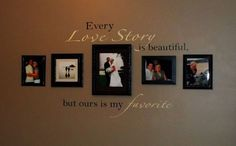 living rooms, photo walls, bedroom walls, quote pictures, wedding photos, master bedrooms, hous, picture frames, wedding pictures