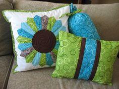 #dresden plate pillow