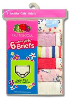 #1: Fruit of the Loom Girls 2-6x Toddler 6 Pack Wardrobe Brief