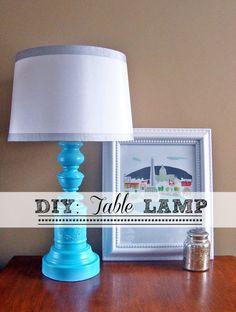 Transformed table lamp   #DIY #budgetdecorating