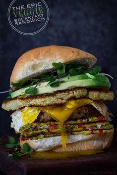 The Epic Veggie Sandwich via Bakers Royale
