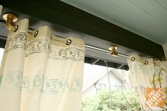 Nothing says 'elegant' more than outdoor patio curtains. These DIY acrylic rods add even more sophistication. Click here for full instructions from @A Storied Style
